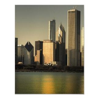 "Horizonte de Chicago Invitación 4.25"" X 5.5"""