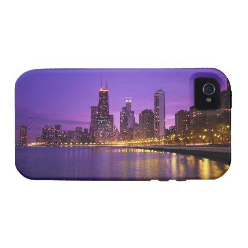 Horizonte de Chicago iPhone 4 Carcasas