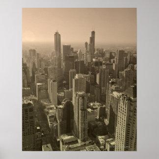 Horizonte de Chicago, Juan Hancock Skydeck de cent Poster