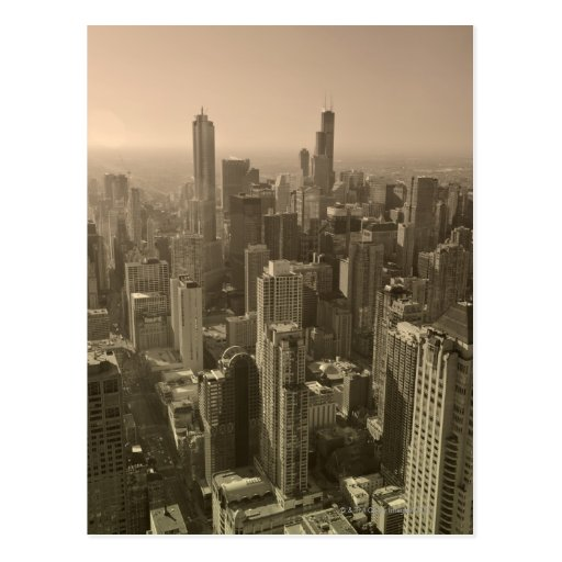 Horizonte de Chicago, Juan Hancock Skydeck de cent Tarjetas Postales