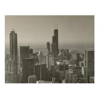 Horizonte de Chicago Juan Hancock Skydeck de cent Postal