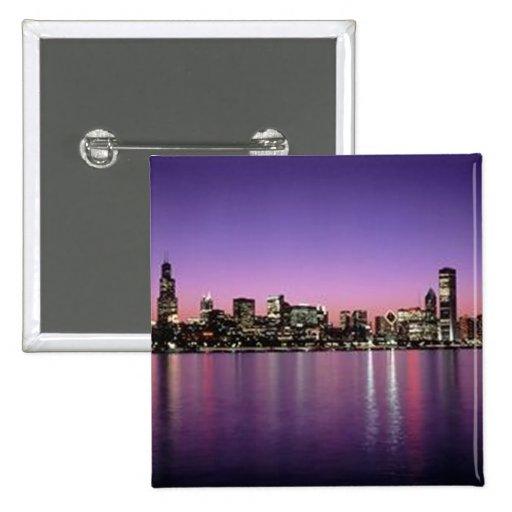 Horizonte de Chicago Nitetime Pin