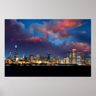 Horizonte de Chicago Poster