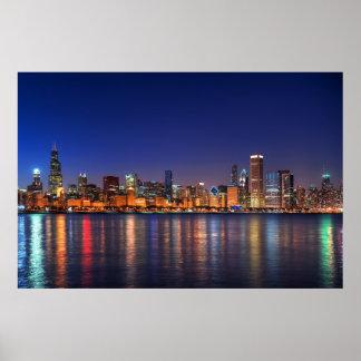 Horizonte de Chicago Posters