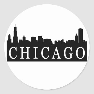 Horizonte de Chicago Etiqueta