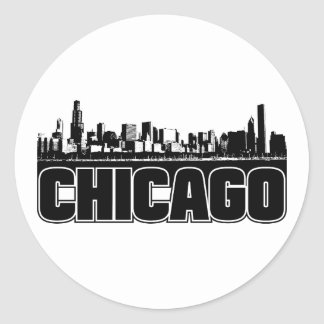 Horizonte de Chicago Pegatina