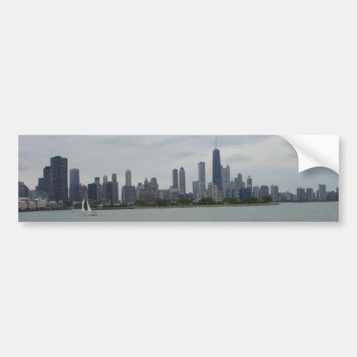 Horizonte de Chicago Pegatina Para Auto