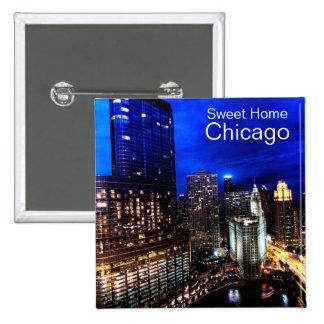 Horizonte de Chicago Pin Cuadrado
