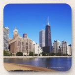 Horizonte de Chicago Posavasos De Bebida