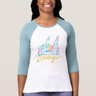 Horizonte de Chicago Sylized Camiseta