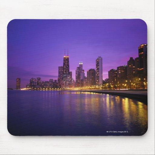 Horizonte de Chicago Tapete De Ratón