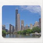 Horizonte de Chicago Tapetes De Raton