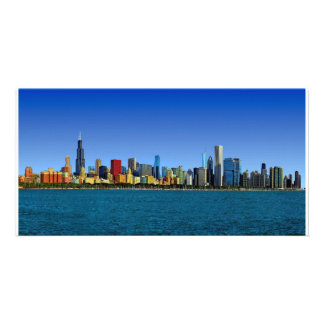 Horizonte de Chicago Tarjetas Fotográficas Personalizadas