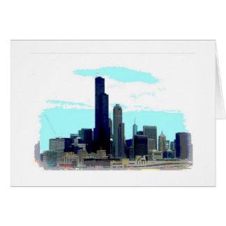 Horizonte de Chicago Tarjeta De Felicitación