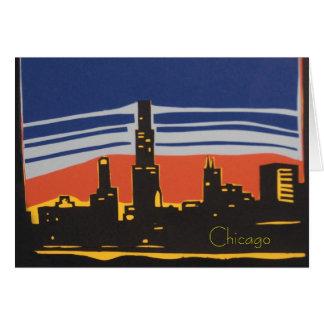 Horizonte de Chicago Tarjeta Pequeña