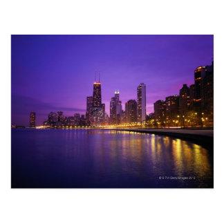Horizonte de Chicago Tarjeta Postal