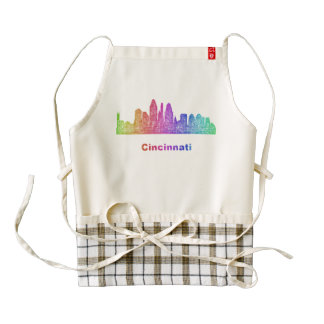 Horizonte de Cincinnati del arco iris Delantal Zazzle HEART