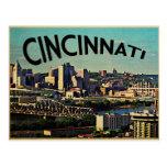 Horizonte de Cincinnati del vintage Tarjeta Postal