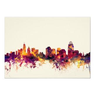 Horizonte de Cincinnati Ohio Invitación 12,7 X 17,8 Cm