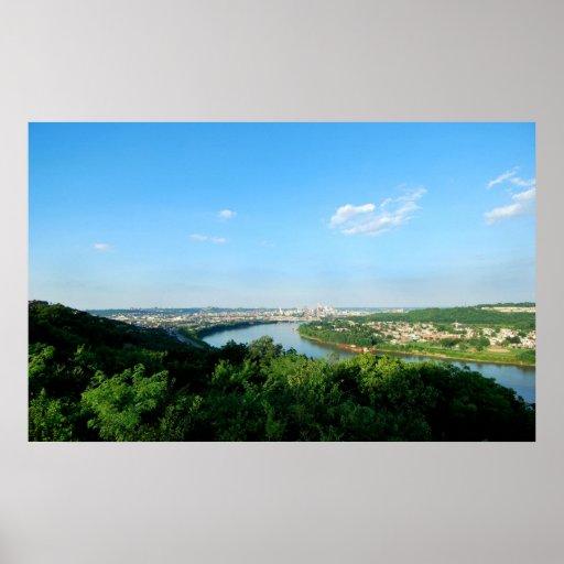 Horizonte de Cincinnati Póster