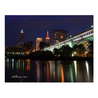 Horizonte de Cleveland de la postal