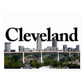 Horizonte de Cleveland Ohio con Cleveland en el Tarjeta Postal