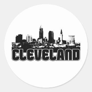 Horizonte de Cleveland Etiquetas Redondas