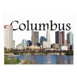 Horizonte de Columbus, Ohio con Columbus en el Postal