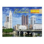 Horizonte de Columbus, Ohio Tarjeta Postal