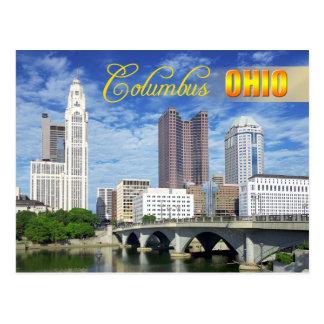 Horizonte de Columbus Ohio Tarjeta Postal
