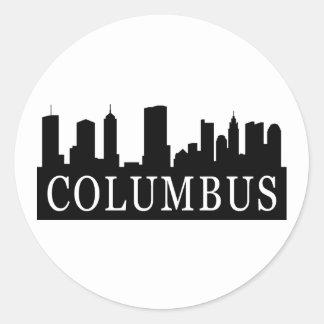 Horizonte de Columbus Pegatina Redonda