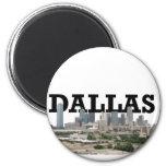 Horizonte de Dallas con Dallas en el cielo Imán De Frigorifico