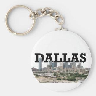 Horizonte de Dallas con Dallas en el cielo Llaveros Personalizados