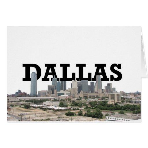 Horizonte de Dallas con Dallas en el cielo Tarjeta