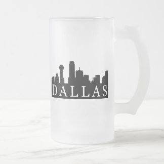 Horizonte de Dallas Taza De Cristal