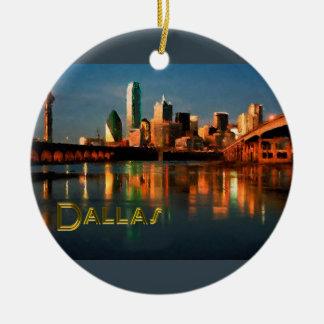 Horizonte de Dallas Tejas en la oscuridad Ornamente De Reyes