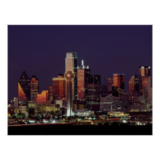 Horizonte de Dallas, Tejas Posters