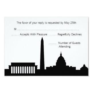 Horizonte de DC que casa las tarjetas de RSVP Invitación 8,9 X 12,7 Cm