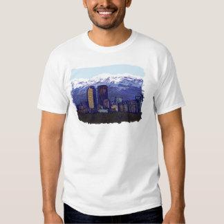 Horizonte de Denver, camisetas del arte gráfico Remera