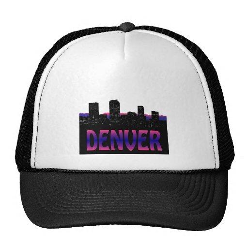 Horizonte de Denver Colorado Gorras De Camionero
