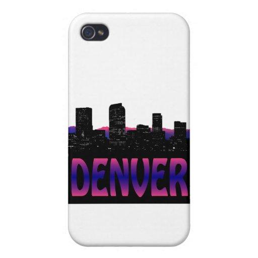 Horizonte de Denver Colorado iPhone 4 Protectores