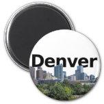 Horizonte de Denver con Denver en el cielo Imanes