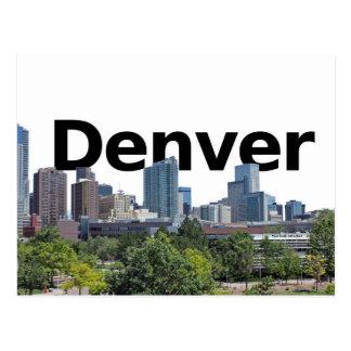 Horizonte de Denver con Denver en el cielo Tarjeta Postal