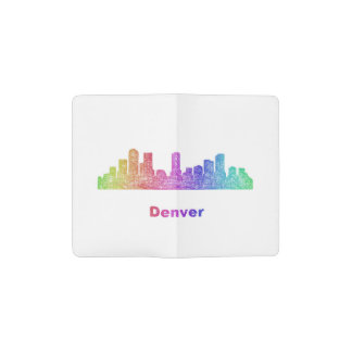 Horizonte de Denver del arco iris Cuaderno De Bolsillo Moleskine