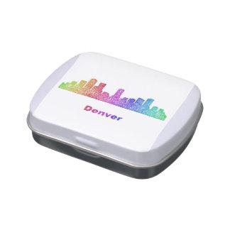 Horizonte de Denver del arco iris Frascos De Caramelos