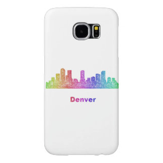 Horizonte de Denver del arco iris Fundas Samsung Galaxy S6