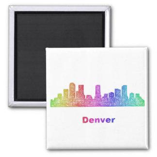Horizonte de Denver del arco iris Imán Cuadrado
