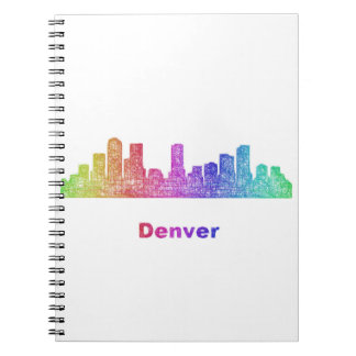 Horizonte de Denver del arco iris Libreta