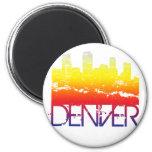 Horizonte de Denver Imán De Nevera