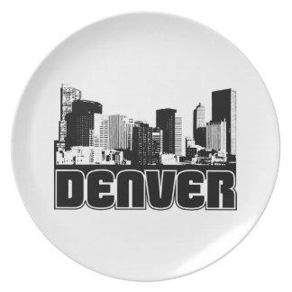 Horizonte de Denver Plato Para Fiesta